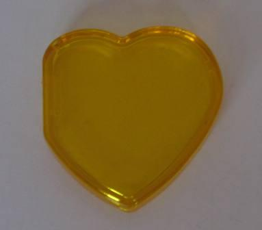 Beanie Baby Tag Cover (Yellow Heart)